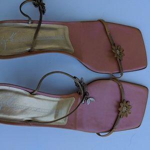 Vicini Guiseppe Zanotti Design Jewel Gold Sandals